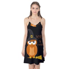 Halloween Orange Witch Owl Camis Nightgown