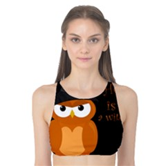 Halloween Orange Witch Owl Tank Bikini Top