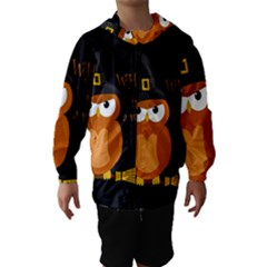 Halloween Orange Witch Owl Hooded Wind Breaker (kids)