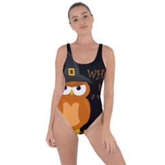 Halloween Orange Witch Owl Bring Sexy Back Swimsuit