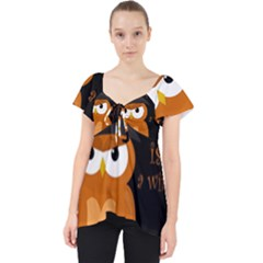 Halloween Orange Witch Owl Dolly Top