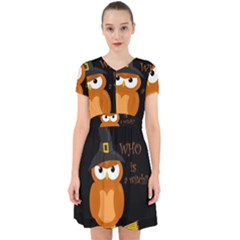 Halloween Orange Witch Owl Adorable In Chiffon Dress