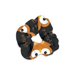Halloween Orange Witch Owl Velvet Scrunchie