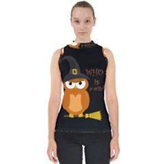 Halloween Orange Witch Owl Shell Top