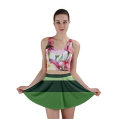 Cvar0098 Abstract Jungle Green Brown Art Mini Skirt