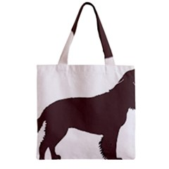 American Water Spaniel Silo Color Zipper Grocery Tote Bag
