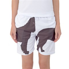 American Water Spaniel Silo Color Women s Basketball Shorts