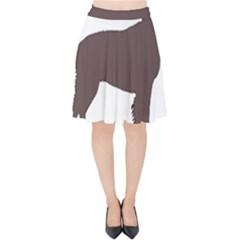 American Water Spaniel Silo Color Velvet High Waist Skirt