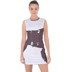 American Water Spaniel Silo Color Lace Up Front Bodycon Dress