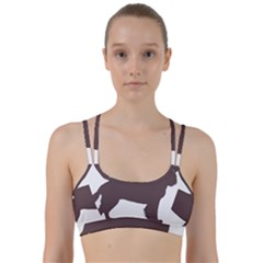 American Water Spaniel Silo Color Line Them Up Sports Bra
