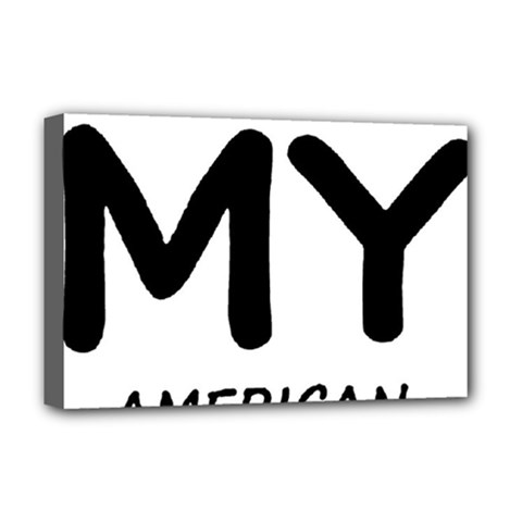 I Love My American Water Spaniel Deluxe Canvas 18  X 12