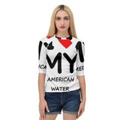 I Love My American Water Spaniel Quarter Sleeve Raglan Tee