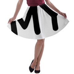 I Love My American Water Spaniel A Line Skater Skirt