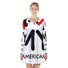 I Love My American Water Spaniel Long Sleeve Velvet V Neck Dress