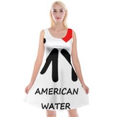 I Love My American Water Spaniel Reversible Velvet Sleeveless Dress