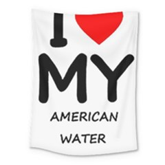 I Love My American Water Spaniel Medium Tapestry