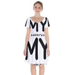 I Love My American Water Spaniel Short Sleeve Bardot Dress