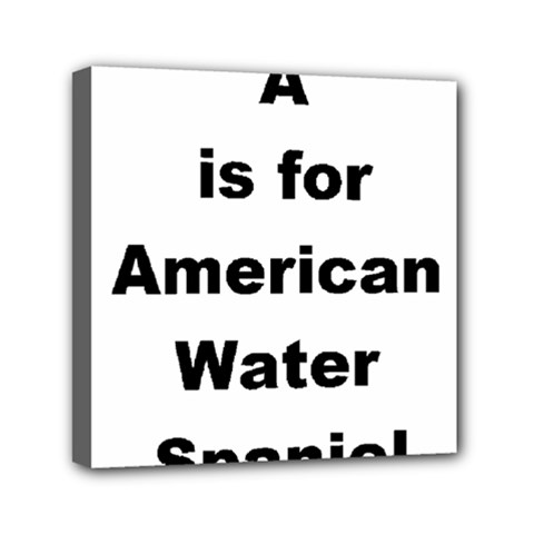 A Is For American Water Spaniel Mini Canvas 6  X 6