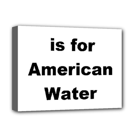 A Is For American Water Spaniel Deluxe Canvas 16  X 12