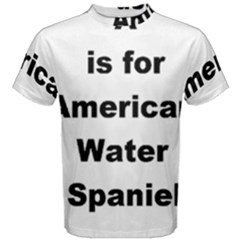 A Is For American Water Spaniel Men s Cotton Tee