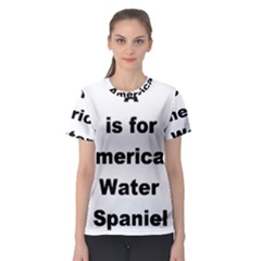 A Is For American Water Spaniel Women s Sport Mesh Tee