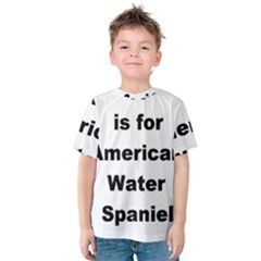A Is For American Water Spaniel Kids  Cotton Tee