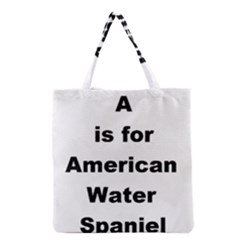 A Is For American Water Spaniel Grocery Tote Bag