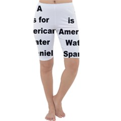 A Is For American Water Spaniel Cropped Leggings