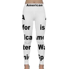 A Is For American Water Spaniel Classic Yoga Leggings