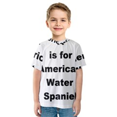 A Is For American Water Spaniel Kids  Sport Mesh Tee