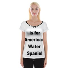 A Is For American Water Spaniel Cap Sleeve Tops