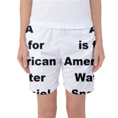 A Is For American Water Spaniel Women s Basketball Shorts