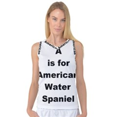 A Is For American Water Spaniel Women s Basketball Tank Top