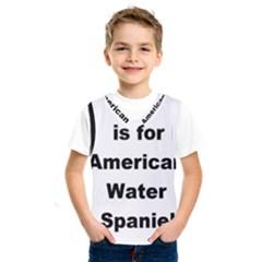 A Is For American Water Spaniel Kids  Sportswear