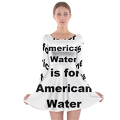 A Is For American Water Spaniel Long Sleeve Skater Dress
