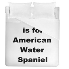 A Is For American Water Spaniel Duvet Cover (queen Size)