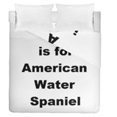 A Is For American Water Spaniel Duvet Cover Double Side (queen Size)