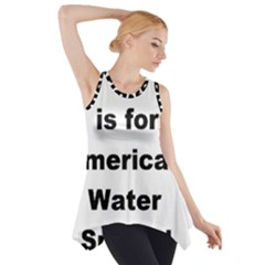 A Is For American Water Spaniel Side Drop Tank Tunic