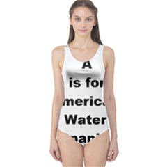 A Is For American Water Spaniel One Piece Swimsuit