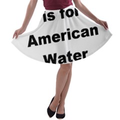 A Is For American Water Spaniel A Line Skater Skirt