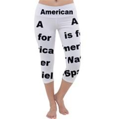 A Is For American Water Spaniel Capri Yoga Leggings