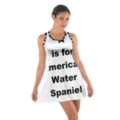 A Is For American Water Spaniel Cotton Racerback Dress