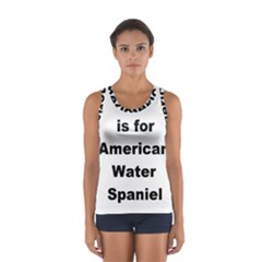A Is For American Water Spaniel Sport Tank Top