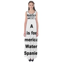A Is For American Water Spaniel Empire Waist Maxi Dress