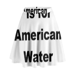 A Is For American Water Spaniel High Waist Skirt