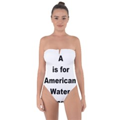 A Is For American Water Spaniel Tie Back One Piece Swimsuit