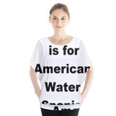 A Is For American Water Spaniel Blouse