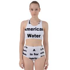 A Is For American Water Spaniel Racer Back Bikini Set