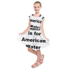 A Is For American Water Spaniel Kids  Short Sleeve Dress