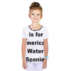A Is For American Water Spaniel Kids  One Piece Tee